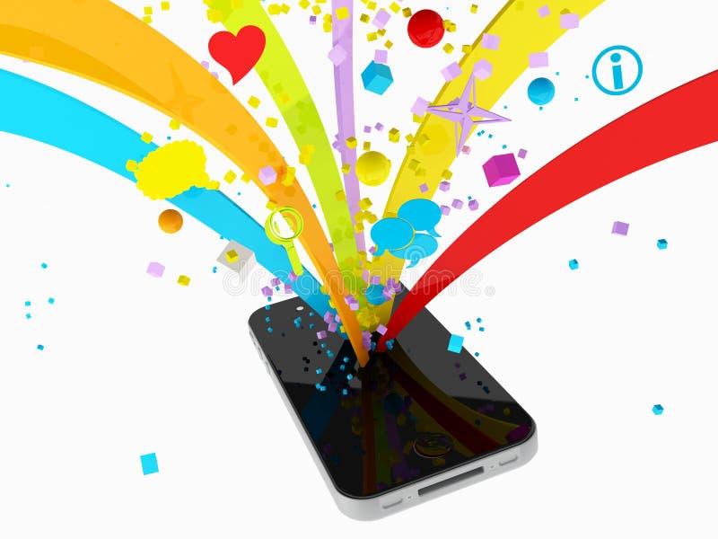 Multimedia de Smartphone stock de ilustración