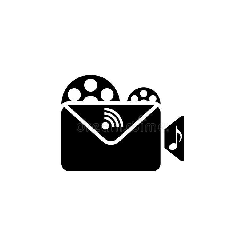 Multimedia icon and symbol stock illustration