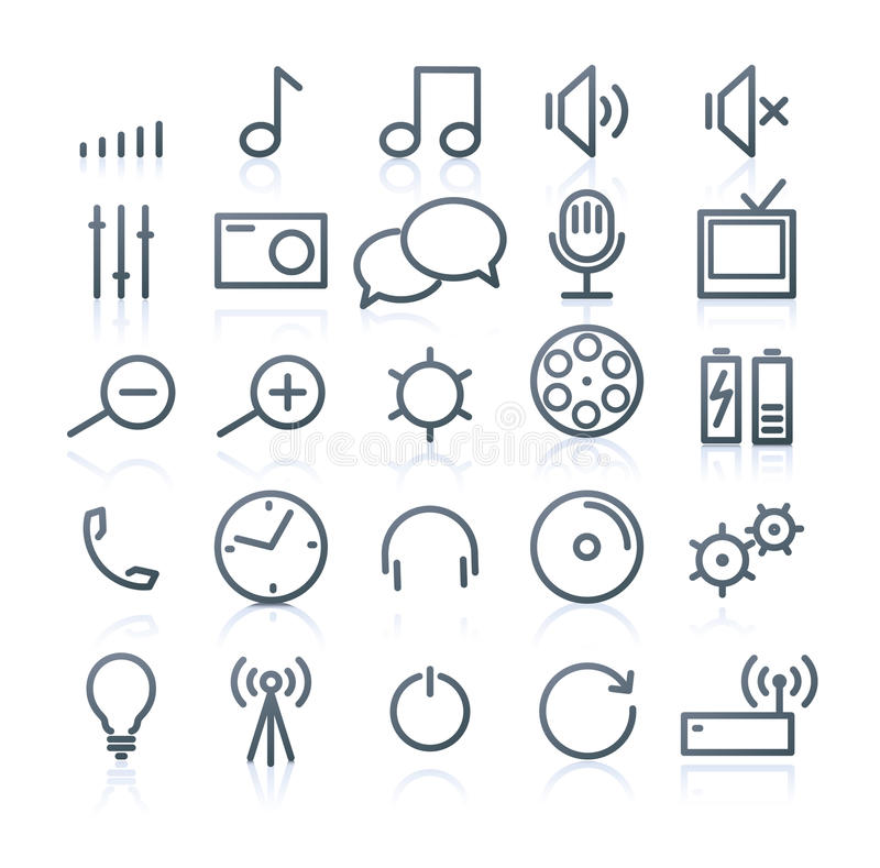 Download Multimedia Icons stock vector. Illustration of music - 21511261