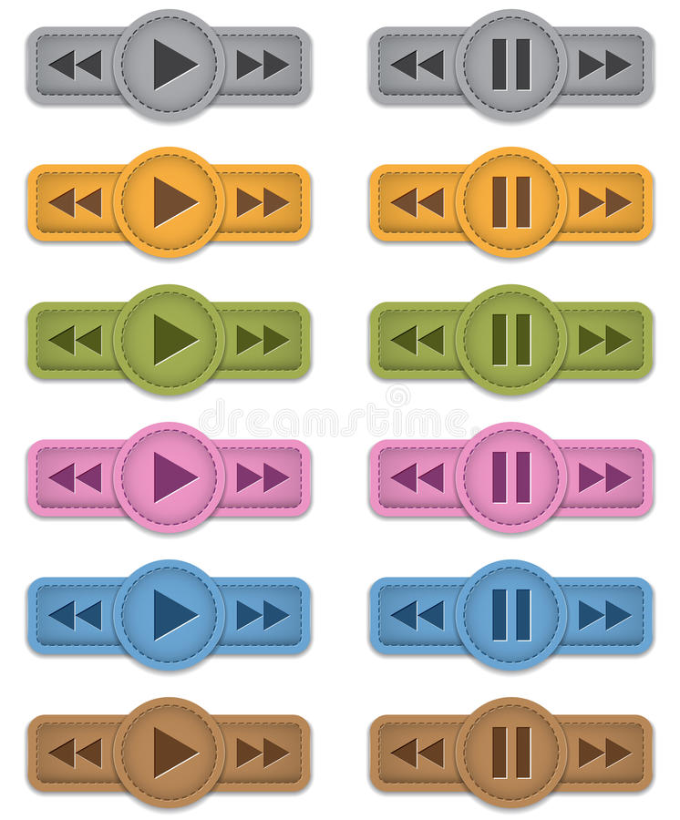 Download Multimedia icons stock vector. Illustration of player - 29223459