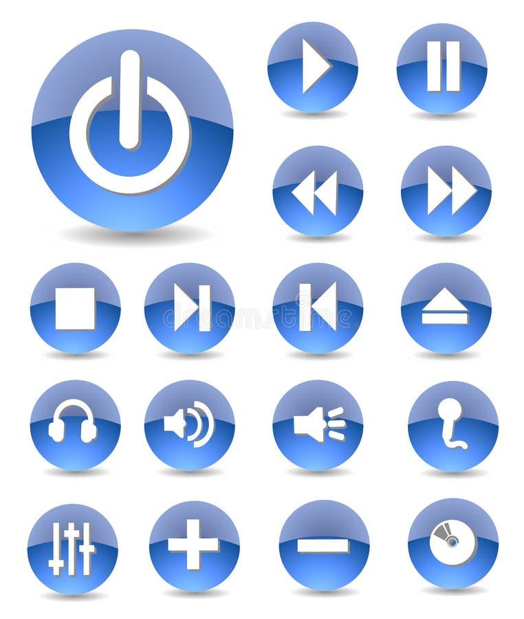 Multimedia Icons royalty free illustration
