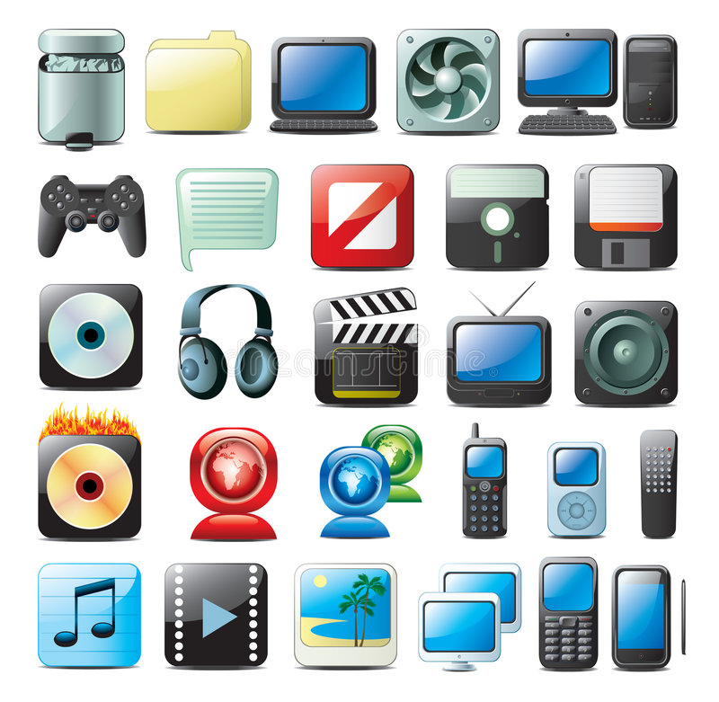 Free Multimedia Icons Stock Images - 7825164