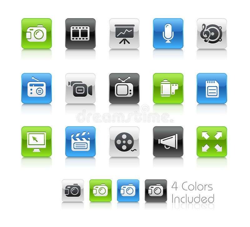 Download Multimedia Icons// Clean Series Royalty Free Stock Image - Image: 19478156