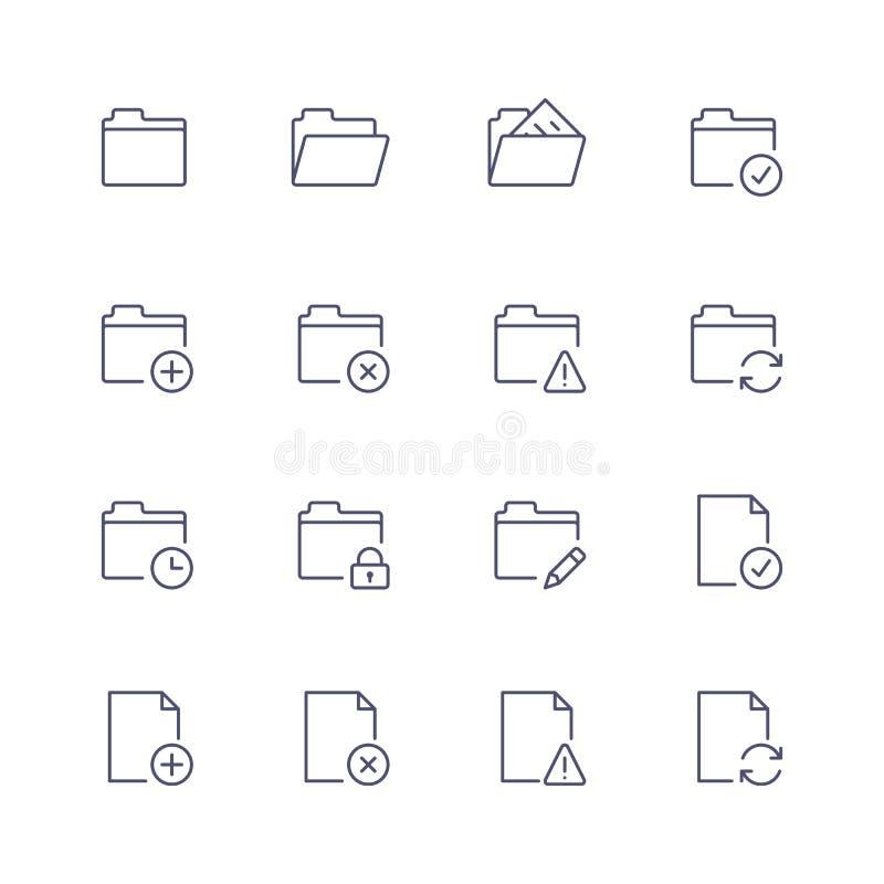 Multimedia icons stock illustration