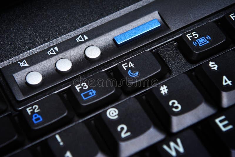 Multimedia Laptop Keys stock image