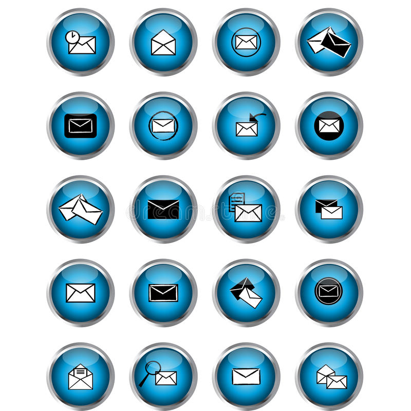 Download Multimedia message buttons stock vector. Image of message - 22978369