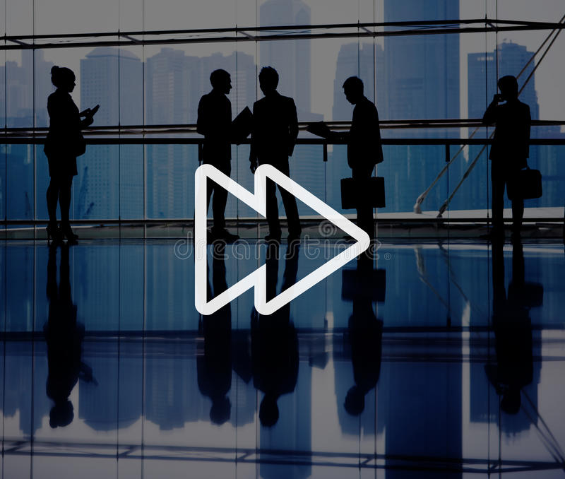 Multimedia-Musik-Audio-Konzept des schnellen Vorlaufs stockbild