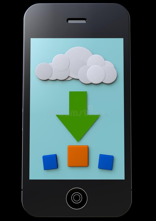 Download Multimedia stock illustration. Image of modern, cellphone - 34700903