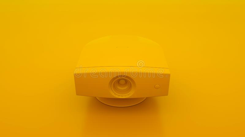 Multimedia Projector. Minimal idea concept. 3d illustration.  stock illustration