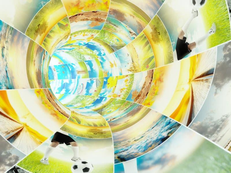 Multimedia que fluyen concepto fotografía de archivo libre de regalías