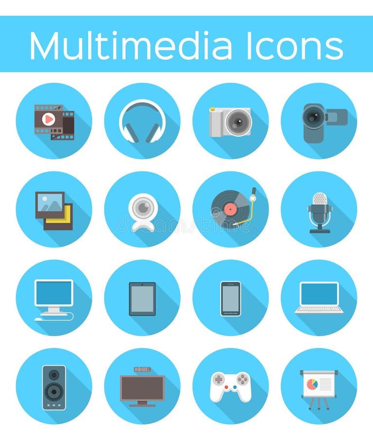 Multimedia sänker symboler stock illustrationer
