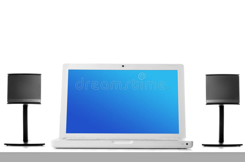 Download Multimedia speaker stock photo. Image of music, laptop - 17601756