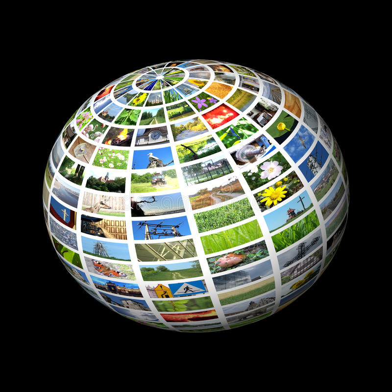 Download Multimedia sphere stock illustration. Illustration of broadcasting - 11742122