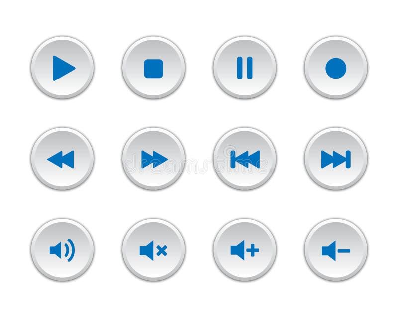 Multimedia-Spieler-Knöpfe lizenzfreie abbildung