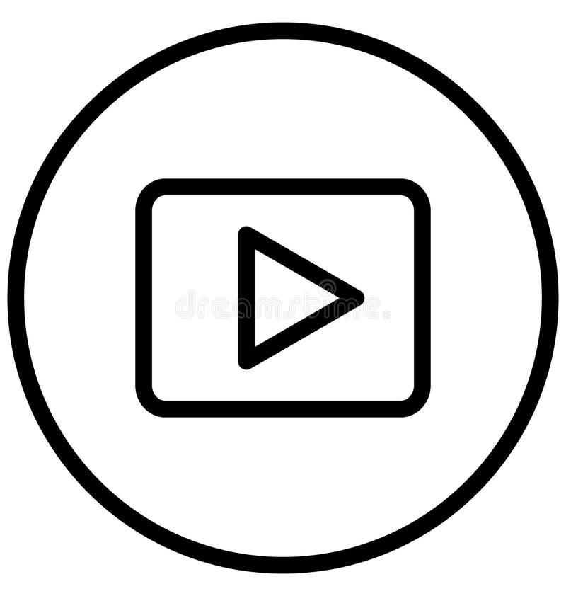Multimedia-Spieler lokalisierte Vektorikone, die leicht ?ndern oder redigieren kann lizenzfreie abbildung
