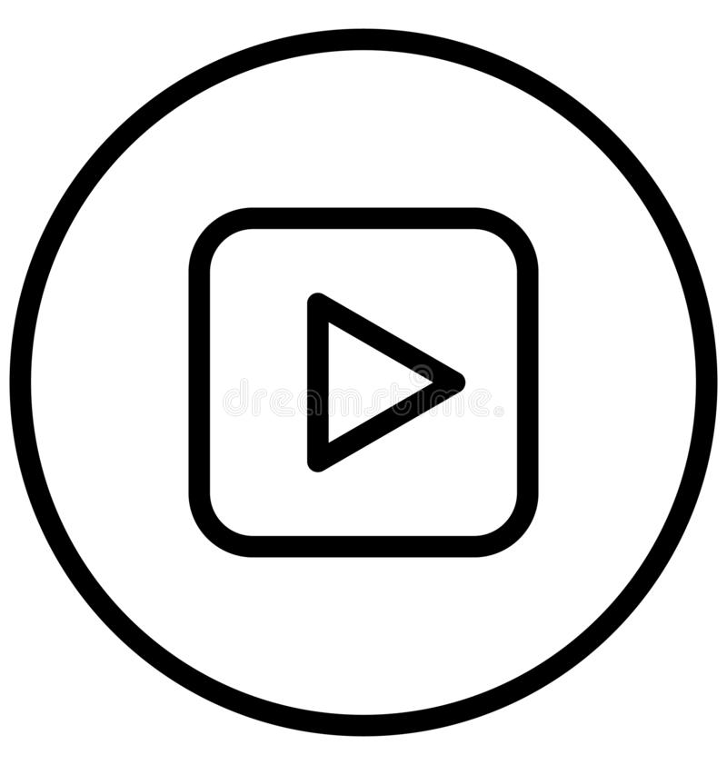 Multimedia-Spieler lokalisierte Vektorikone, die leicht ?ndern oder redigieren kann vektor abbildung