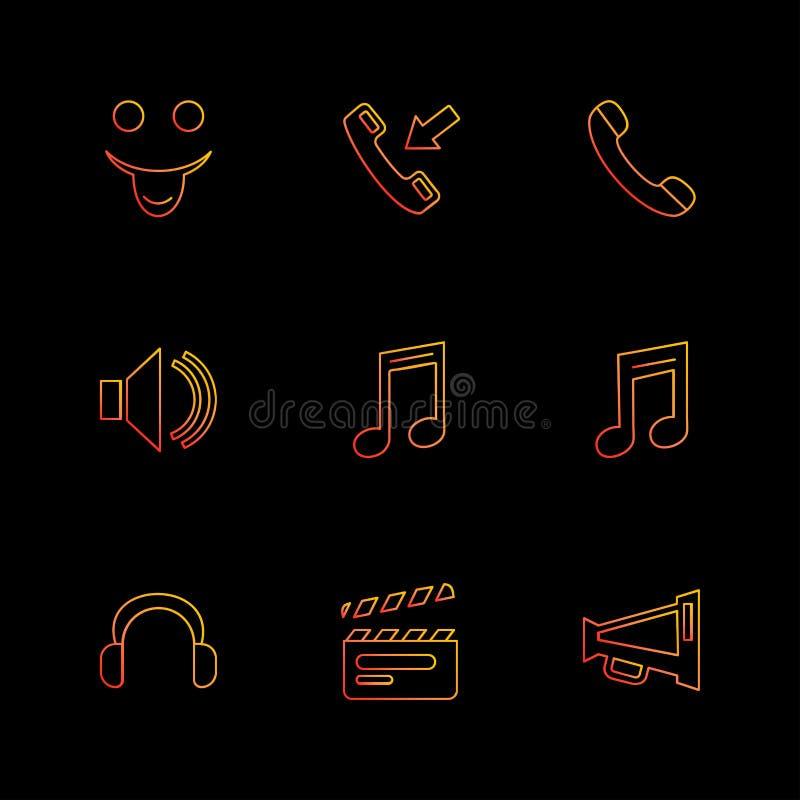 Multimedia, Sprecher, Anruf, Kopfhörer, Mikrofon, Netz, e lizenzfreie abbildung