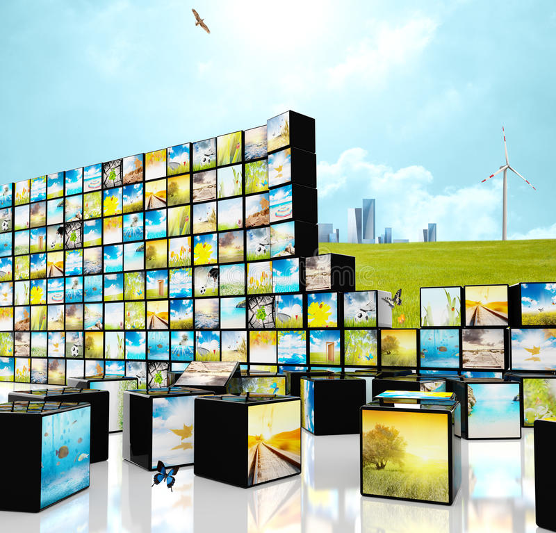 Download Multimedia Straming Concept Stock Photo - Image: 25644284