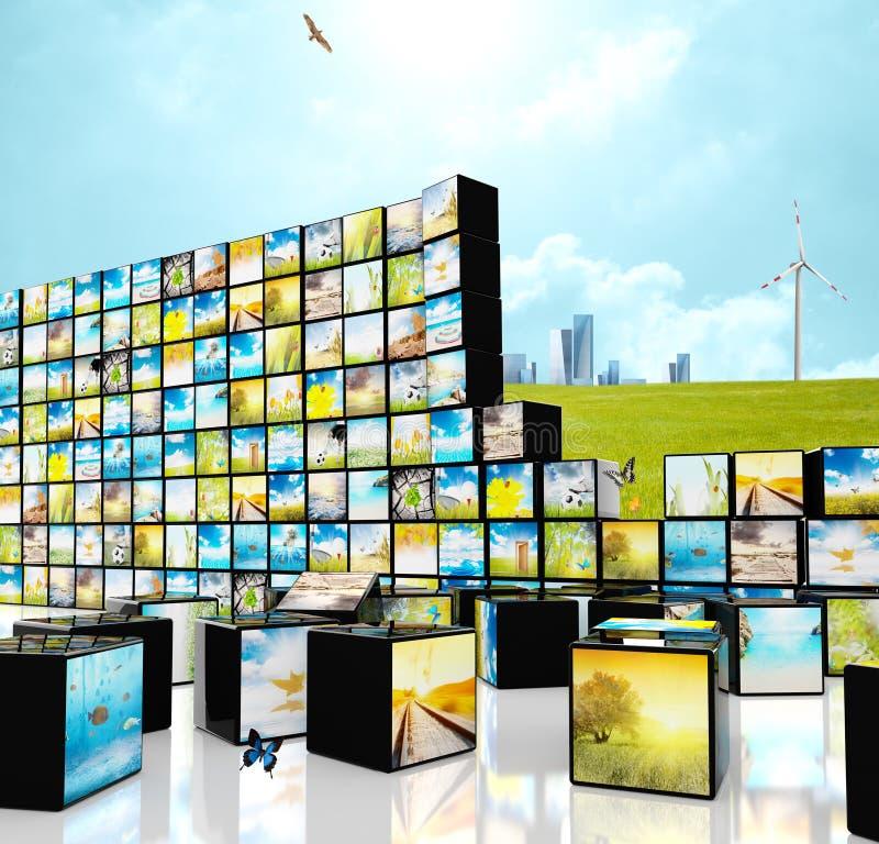 Multimedia straming concepto imagenes de archivo