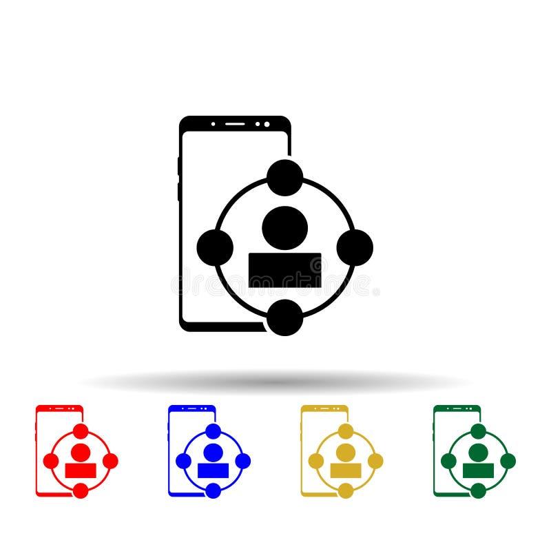 Multimedia-Symbol für Smartphone Einfache Glyphe, flacher Vektor für mobile Concept-Icons für i und ux, website oder mobile lizenzfreie abbildung