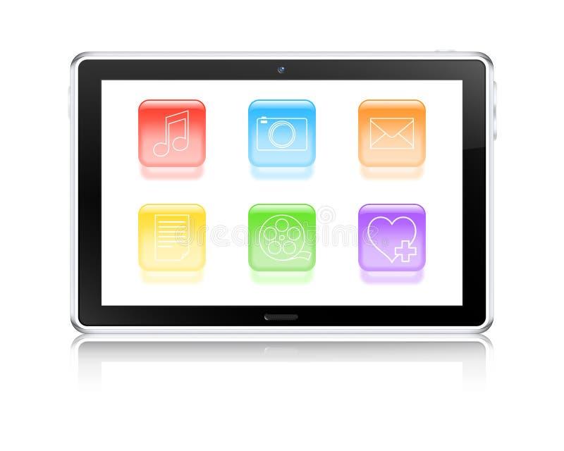 Multimedia tablet computer vector illustration