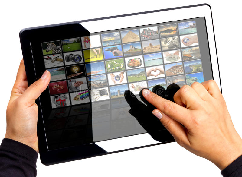 Download Multimedia touchpad stock image. Image of future, data - 21575667