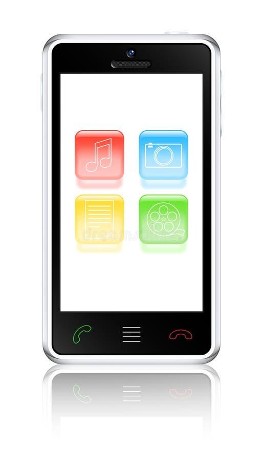 Multimedia touchscreen smartphone vector illustration