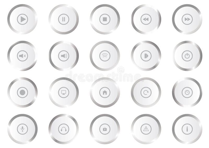 Multimedia-Vektor Icons vektor abbildung
