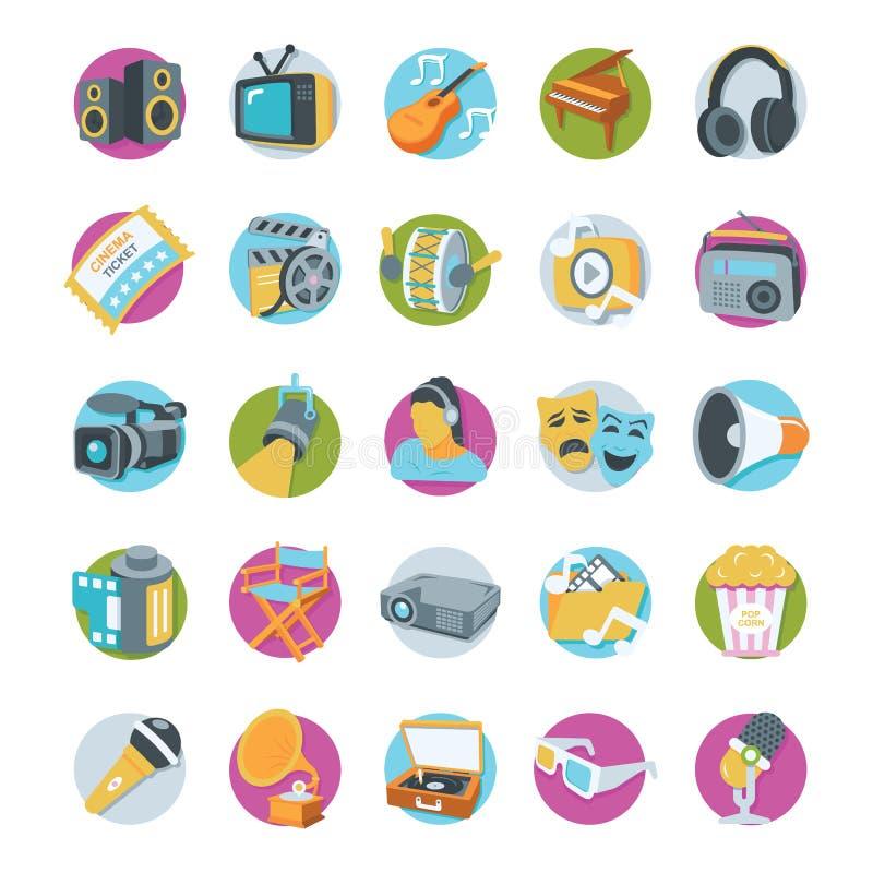Multimedia-Vektor Icons lizenzfreie abbildung