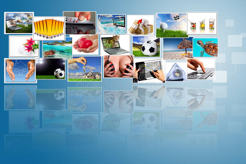 Multimedia widescreen stock photo