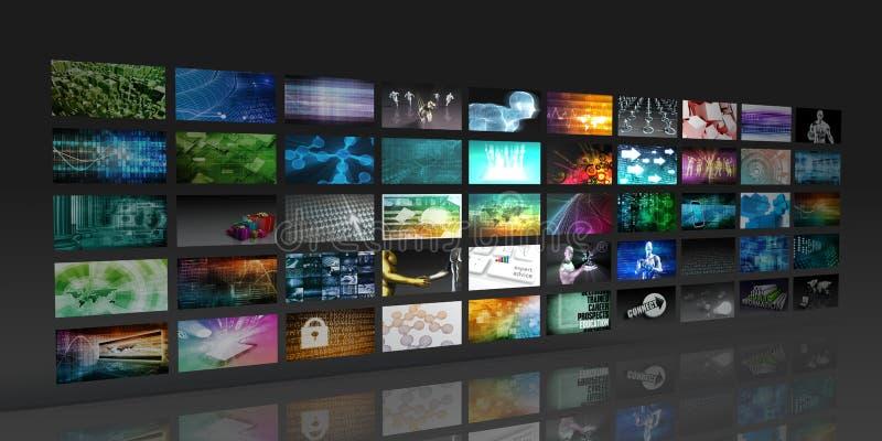 Multimediabakgrund royaltyfri illustrationer