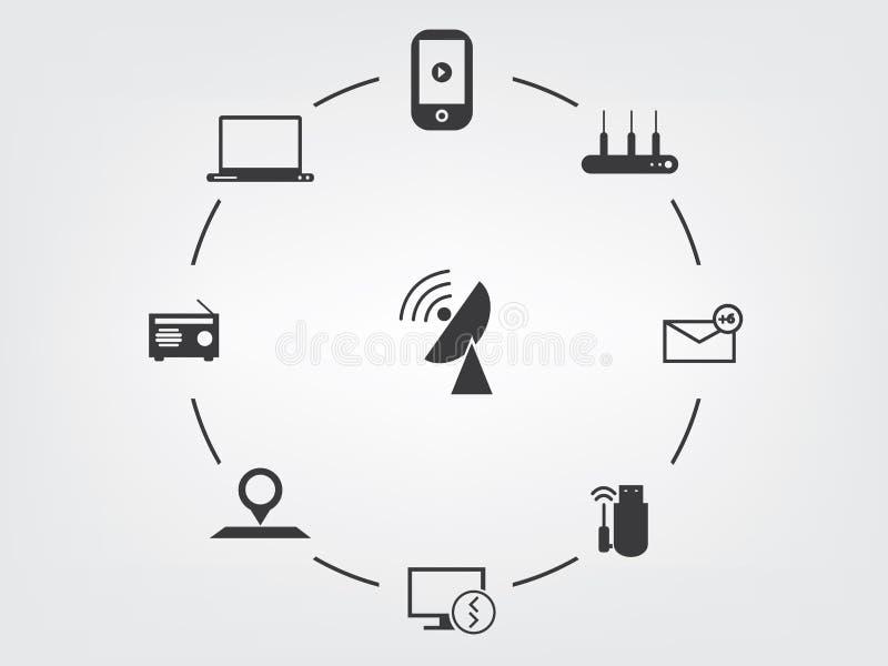 Multimediaikone lizenzfreie abbildung