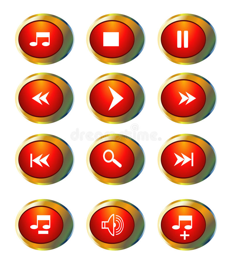 Multimedialne ikony ilustracji