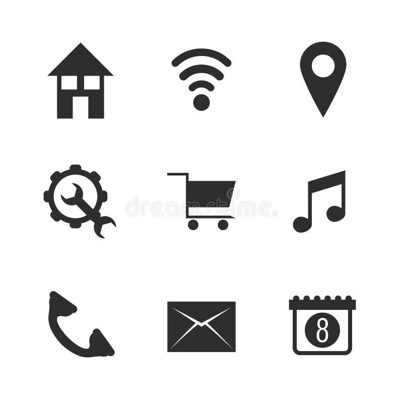 Multimedialne ikony ustawiać ilustracja wektor