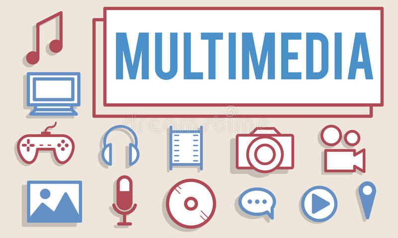Multimedialny animacj Komputerowych grafika Digital pojęcie ilustracja wektor