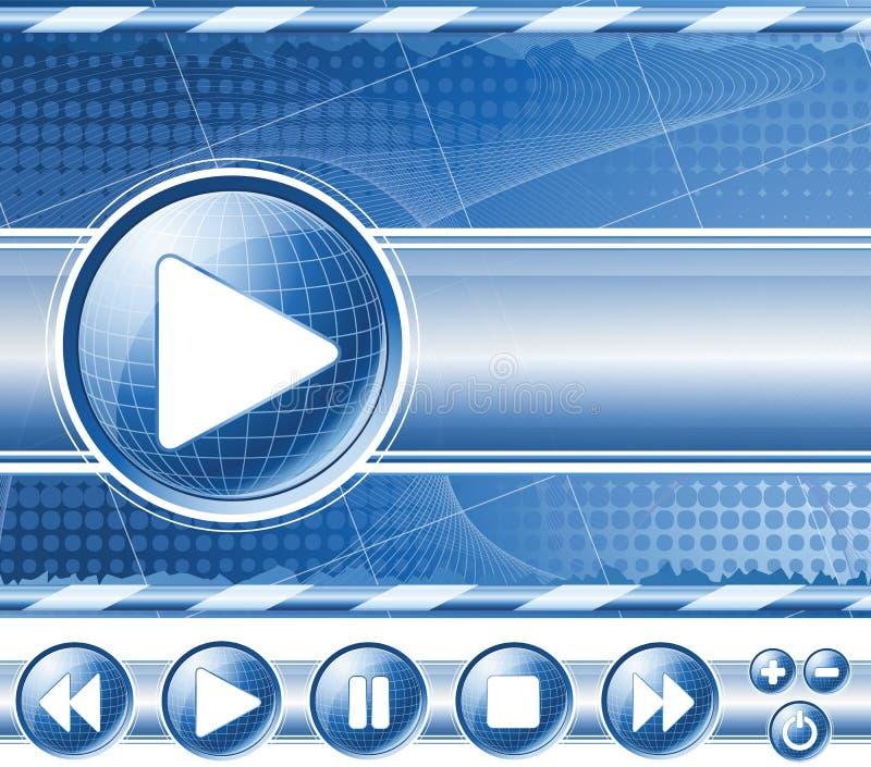multimedialny tło gracz ilustracja wektor