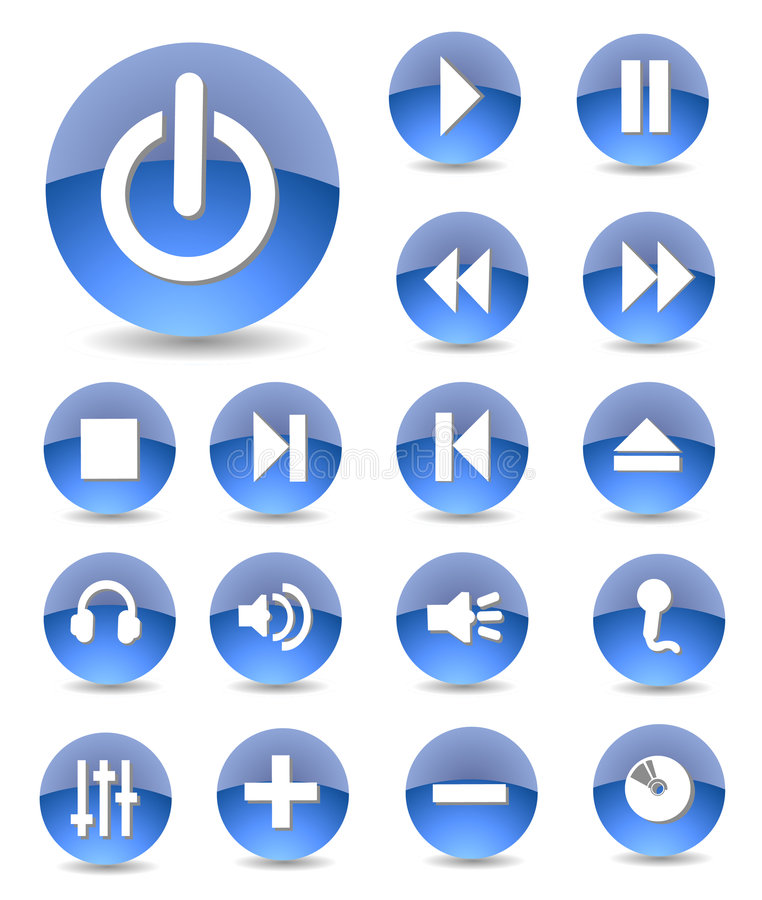 multimedialnych ikony