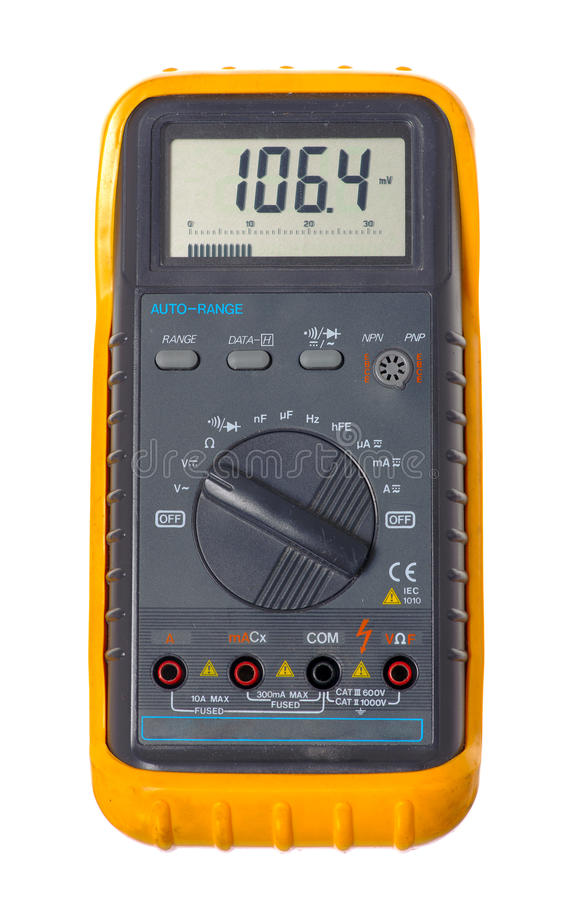 Multimeter. Isolated on the white background royalty free stock photo