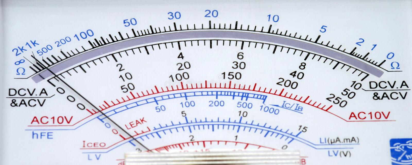Multimeter stock photography