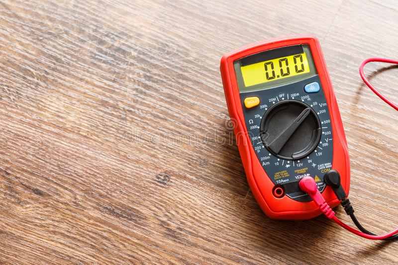 Multimeter for measurement of voltage royalty free stock photography