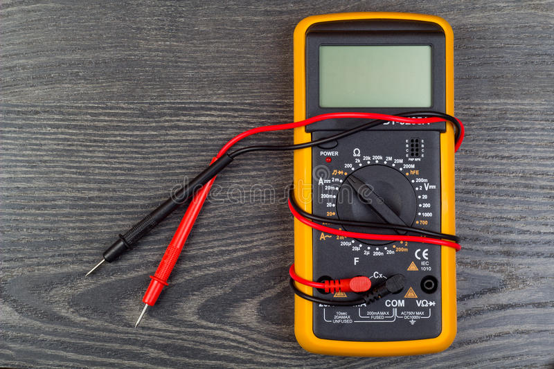 Multimeter on office. Table g stock photography