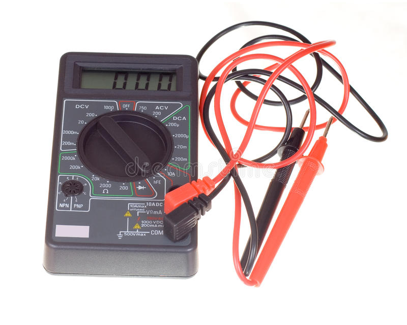 Multimeter And Probes Royalty Free Stock Photography