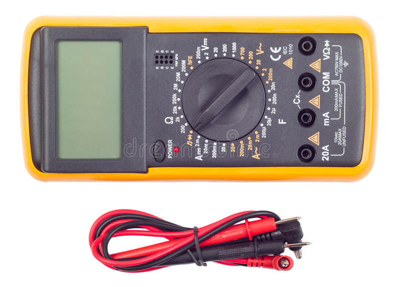 Multimeter on a white stock photo
