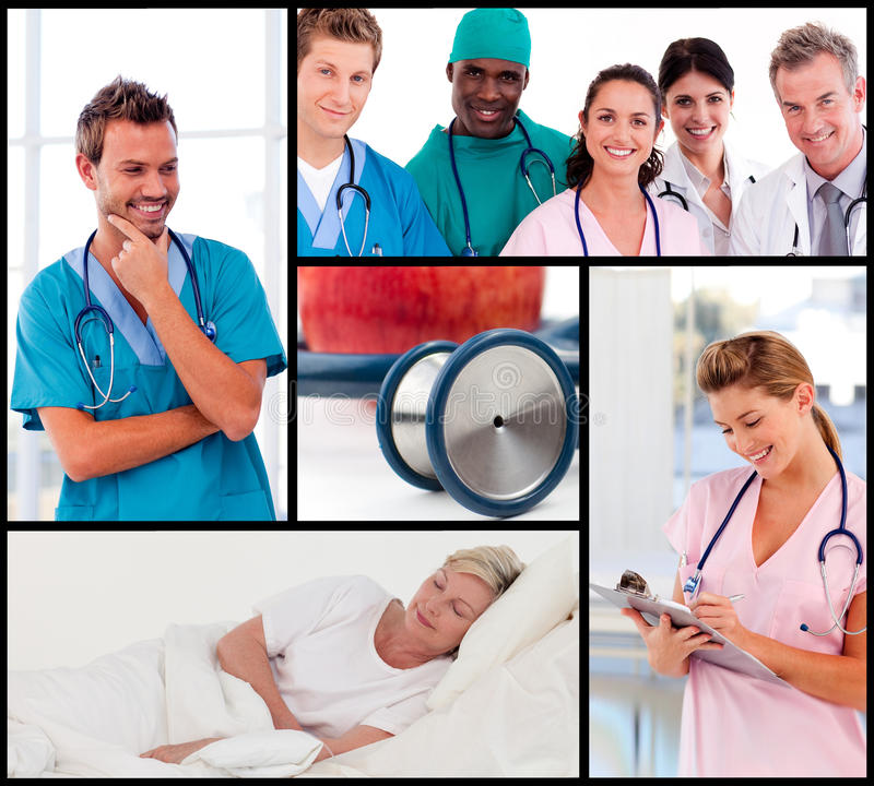 Download Multipanel Of Doctors Attending To Patients Stock Photo - Image: 10723638