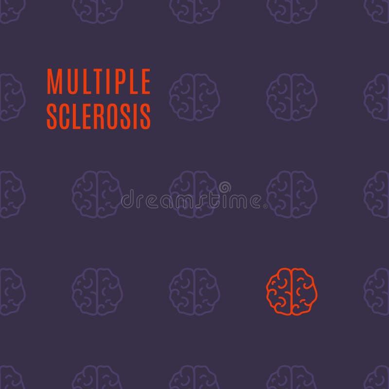 Multipel sklerohjärnaffisch royaltyfri illustrationer