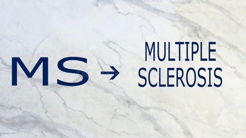 MultipelSkleros-ms stock illustrationer