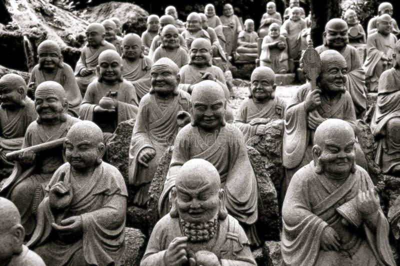 Multiple Buddha Statues royalty free stock photo