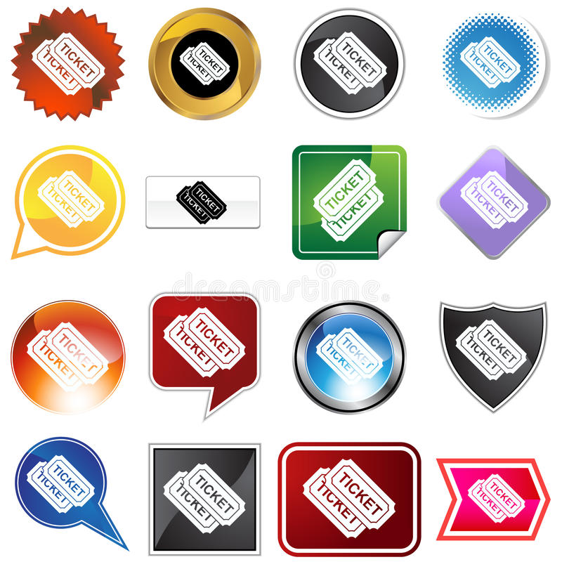 Download Multiple Buttons - Tickets stock vector. Image of bevel - 10863993