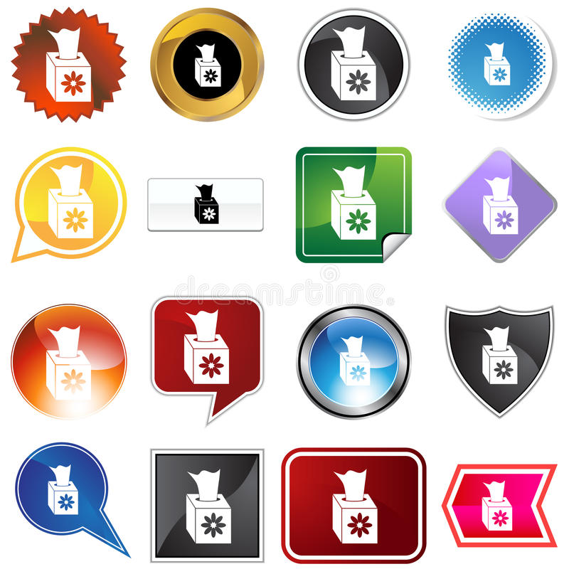 Download Multiple Buttons - Tissue stock vector. Illustration of background - 11011440