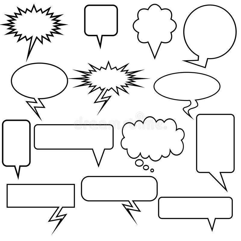 Download Multiple Chat Icons - Black And White Stock Vector - Image: 10136091